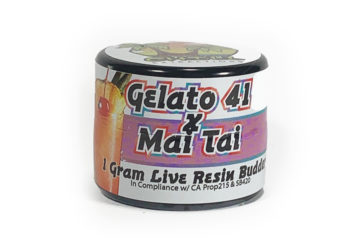 Organic Roots 'Gelato 41 X Mai Thai' Live Resin Budder